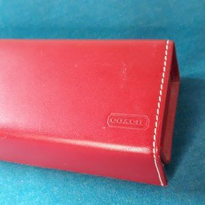 COACH leather vintage sunglass case red